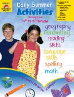 Daily summer activities gr 4-5