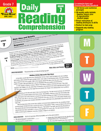 Daily reading comprehension gr 7