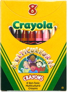 Multicultural crayons reg 8pk