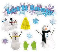 Let it snow mini bulletin board set