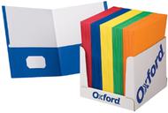 School grade twin pocket folders  100 per box