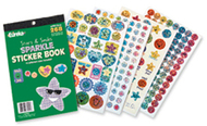 Sticker book stars & smiles 268/pk  sparkle