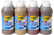 Multicultural washable paint 8 asst  8oz bottles