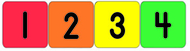 Numbers 1 - 20 theme stickers