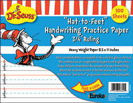 Dr seuss hat to feet 100sht  handwriting practice paper