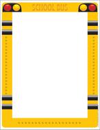 School bus computer paper