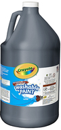 Washable paint gallon black