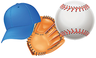 Baseball assorted cut outs