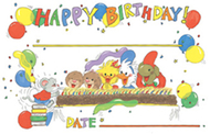Boards suzys zoo birthday 36/pk  8-1/2 x 5-1/2