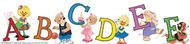 Suzy zoo character letters deco  trim