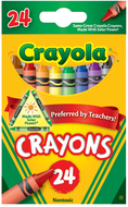 Crayola crayons 24 color peggable