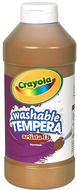 Artista ii tempera 16oz brown  washable paint