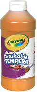 Artista ii tempera 16 oz orange  washable paint