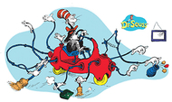 Dr seuss giant cat in car bb set