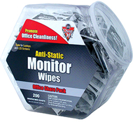 Anti static monitor wipes 200ct tub