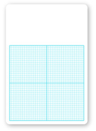 Flipside 12pk 1/4in graph dry erase  boards class pack 11 x 16