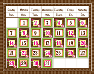 Brown sassy solids calendar