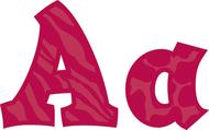 Sassy animal ruby 5in sassy fonts