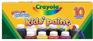 Washable kids paint 10 jar set