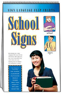Sign language flip charts school  signs