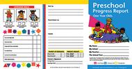 Preschool progress reports 10pk for  1 year olds