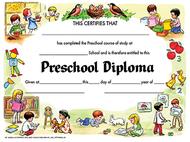 Diplomas preschool 30 pk 8.5 x 11