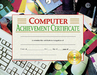Computer achievement 30/pk 8.5x11  certificates