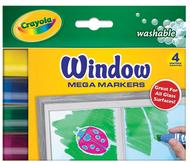 Crayola 4ct window mega markers  washable
