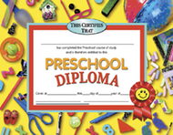 Diplomas preschool 30/pk 8.5 x 11  red ribbon