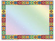 Multicolored border certificate  border/computer paper