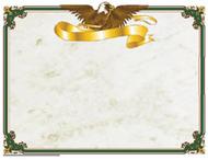 Eagle certificate border/computer  paper