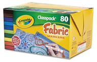 Crayola fabric marker 80ct 10 color  classpack