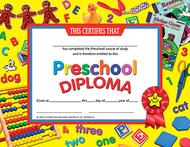 Certificates preschool diploma 30pk