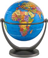 Swivel & title 4in mini globe  political