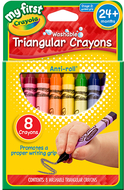 My first crayola 8ct triangular  crayons