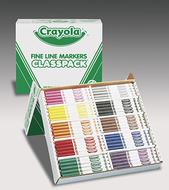Crayola classpack markers 200 ct  non washable fine tip