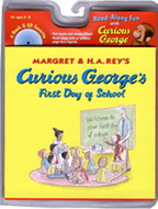 Curious georges first day of school  book & cd