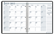 Academic monthly planner 8 1/2 x 11  black wirebound
