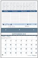 16 month sept - dec wall notebook  calendar