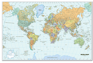World laminated map 38 x 25