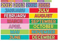 Monthly calendar cards 12pk