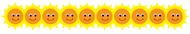 Happy sun die cut border