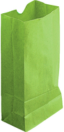 Colored craft bags lime green