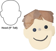 Big cut outs 9in head shape 25ct