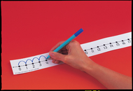 Number line student w/o 12/pk  adhesive 2 x 24 mark-on/wipe-off