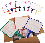 Kleenslate dry erase paddles 12pk  rectangular classroom set