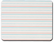 Rectangular handwriting lined 6pk  replacement dry erase sheets