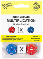 Intermediate multiplication dice  3pk