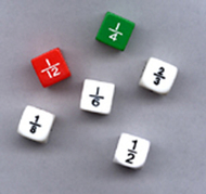 Fraction dice set of 6