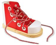 Wood lacing sneaker